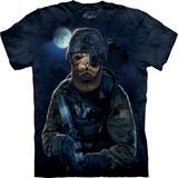 『摩達客』*大尺碼3XL*(預購)美國進口【The Mountain】自然純棉系列 海軍豹設計T恤