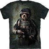 『摩達客』*大尺碼3XL*美國進口【The Mountain】自然純棉系列 海軍鬥牛犬設計T恤 (預購)