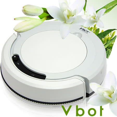 Vbot 智慧型茉莉綠茶香氛掃地機器人(掃+擦+吸)公主機(灰)