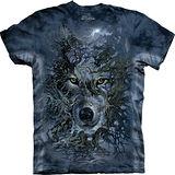 『摩達客』*大尺碼3XL*美國進口【The Mountain】自然純棉系列 樹狼 設計T恤 (預購)