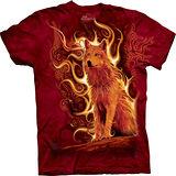 『摩達客』*大尺碼3XL*美國進口【The Mountain】自然純棉系列 火鳳狼 設計T恤 (預購)