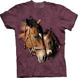 『摩達客』*大尺碼3XL*(預購)美國進口【The Mountain】自然純棉系列 雙心 設計T恤