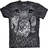 『摩達客』*大尺碼3XL*(預購)美國進口【The Mountain】自然純棉系列 雪豹灰斑 設計T恤