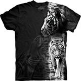 『摩達客』*大尺碼3XL*美國進口【The Mountain】自然純棉系列 白虎設計T恤 (預購)