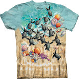 『摩達客』*大尺碼3XL*(預購)美國進口【The Mountain】自然純棉系列 小綠龜設計T恤