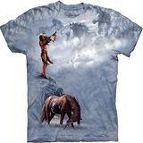 『摩達客』*大尺碼3XL*美國進口【The Mountain】自然純棉系列 印地安祭天 設計T恤 (預購)