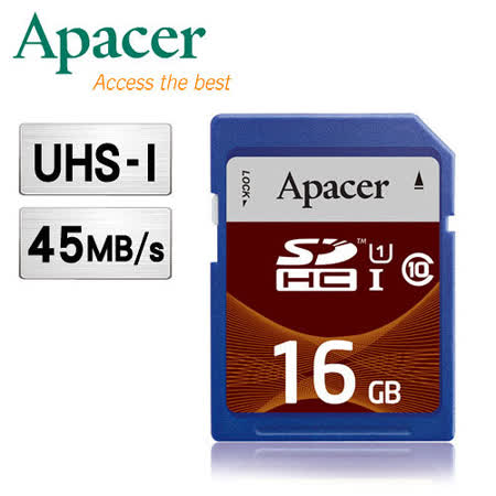 Apacer宇瞻 16GB SDHC UHS-I Class10 記憶卡