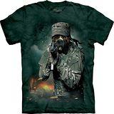 『摩達客』*大尺碼3XL*美國進口【The Mountain】自然純棉系列 戰爭洛基犬設計T恤 (預購)