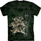 『摩達客』*大尺碼3XL*美國進口【The Mountain】自然純棉系列 四奔狼 設計T恤 (預購)