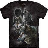 『摩達客』*大尺碼3XL*(預購)美國進口【The Mountain】自然純棉系列 月蝕狼設計T恤