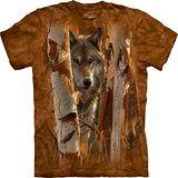 『摩達客』*大尺碼3XL*美國進口【The Mountain】自然純棉系列 守護狼 設計T恤 (預購)