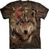 『摩達客』*大尺碼3XL*美國進口【The Mountain】自然純棉系列 秋之狼設計T恤 (預購)