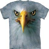 『摩達客』*大尺碼3XL*美國進口【The Mountain】自然純棉系列 鷹臉 設計T恤 (預購)