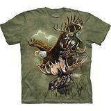 『摩達客』*大尺碼3XL*美國進口【The Mountain】自然純棉系列 鹿鷹圖騰 設計T恤 (預購)