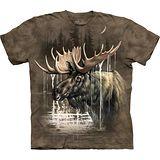 『摩達客』*大尺碼3XL*美國進口【The Mountain】自然純棉系列 麋鹿林 設計T恤 (預購)