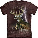 『摩達客』*大尺碼3XL*美國進口【The Mountain】自然純棉系列 閃電鹿 設計T恤 (預購)
