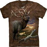 『摩達客』*大尺碼3XL*美國進口【The Mountain】自然純棉系列 黃昏鹿 設計T恤 (預購)