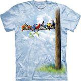 『摩達客』*大尺碼3XL*美國進口【The Mountain】自然純棉系列 鳥群樹設計T恤 (預購)