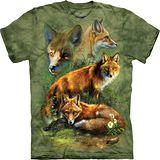 『摩達客』*大尺碼3XL*(預購)美國進口【The Mountain】自然純棉系列 紅狐群設計T恤