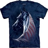 『摩達客』*大尺碼3XL*美國進口【The Mountain】自然純棉系列 愛國馬頭像設計T恤 (預購)