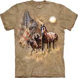 『摩達客』*大尺碼3XL*美國進口【The Mountain】自然純棉系列 美國馬群設計T恤 (預購)