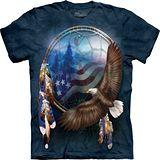 『摩達客』*大尺碼3XL*美國進口【The Mountain】自然純棉系列 自由鷹夢 設計T恤 (預購)