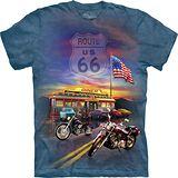 『摩達客』*大尺碼3XL*美國進口【The Mountain】自然純棉系列 66公路 設計T恤 (預購)