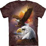 『摩達客』*大尺碼3XL*美國進口【The Mountain】自然純棉系列 鷹與雲 設計T恤 (預購)