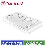 創見 StoreJet 25A3 1TB USB3.0 2.5吋纖薄抗震行動硬碟-白色(TS1TSJ25A3W)