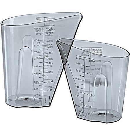 《KOZIOL》大小量杯(灰2入)