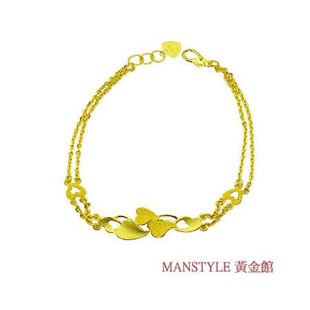 Manstyle「愛的浪花」黃金手鍊