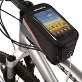 PUSH!自行車用品 六代加大碼自行車前置物袋 手機袋 上管袋 工具袋可裝5.5寸屏手機