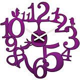 《KOZIOL》動物森林壁面時鐘(透紫)