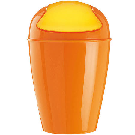 《KOZIOL》搖擺蓋垃圾桶(橘XXS)