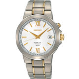 SEIKO Kinetic 簡約鈦金屬腕錶-半金 5M62-0CN0K