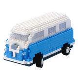 UTICO智慧手機搖控積木車(經典巴士-藍)