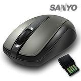 SANYO三洋 SYMS-X2 超手感2.4G無線光學滑鼠 (鐵灰)