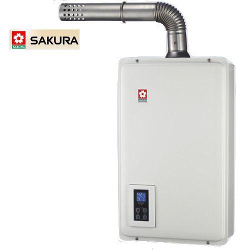 SAKURA櫻花 16L強排式數位恆溫熱水器SH-1670F/H-1670F(天然瓦斯NG1)