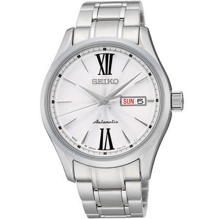SEIKO PRESAGE 匠心4R36機械腕錶-銀 4R36-01L0S
