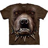『摩達客』*大尺碼3XL*美國進口【The Mountain】自然純棉系列 憤怒比特犬臉設計T恤 (預購)