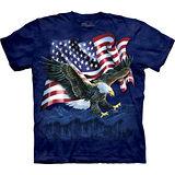 『摩達客』*大尺碼3XL*美國進口【The Mountain】自然純棉系列 鷹爪旗 設計T恤 (預購)