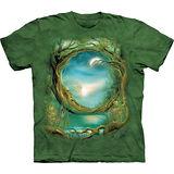『摩達客』*大尺碼3XL*美國進口【The Mountain】自然純棉系列 月樹環 設計T恤 (預購)