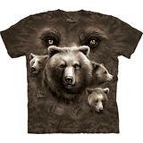 『摩達客』*大尺碼3XL*美國進口【The Mountain】自然純棉系列 熊之眼 設計T恤 (預購)