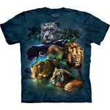 『摩達客』(預購)*大尺碼3XL*美國進口【The Mountain】自然純棉系列 獅豹群叢林設計T恤