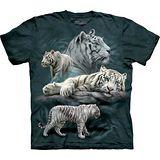 『摩達客』(預購)*大尺碼3XL*美國進口【The Mountain】自然純棉系列 白虎群設計T恤