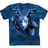 『摩達客』(預購)*大尺碼3XL*美國進口【The Mountain】自然純棉系列 白虎藍眼設計T恤
