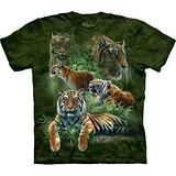 『摩達客』(預購)*大尺碼3XL*美國進口【The Mountain】自然純棉系列 叢林虎群設計T恤