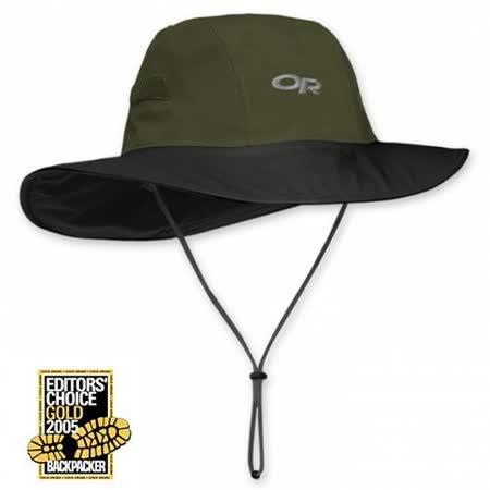 【美國 Outdoor Research】最新經典 Gore-Tex Seattle Sombrero 大盤帽子.圓盤帽.登山牛仔帽/防水透氣.吸濕排汗(橄綠) OR82130