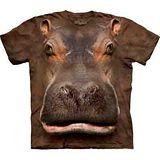 『摩達客』(預購)*大尺碼3XL*美國進口【The Mountain】自然純棉系列 河馬臉設計T恤