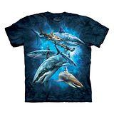 『摩達客』(預購)*大尺碼3XL*美國進口【The Mountain】自然純棉系列 海中鯊魚群設計T恤